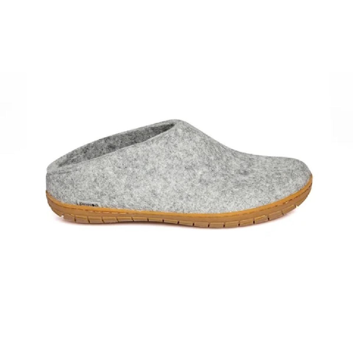 Glerups Glerups Men's Slipper Rubber Sole Grey