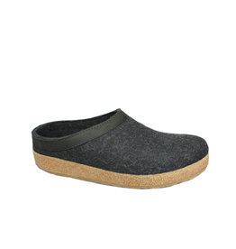 Haflinger Men's Grizzly Clog Charcoal