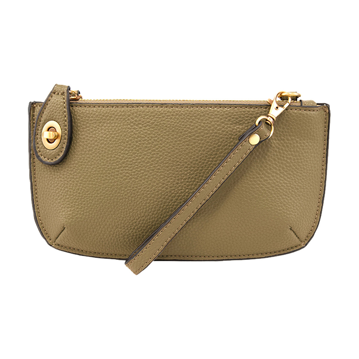 Joy Susan Joy Susan Mini Crossbody Wristlet Clutch Army Green