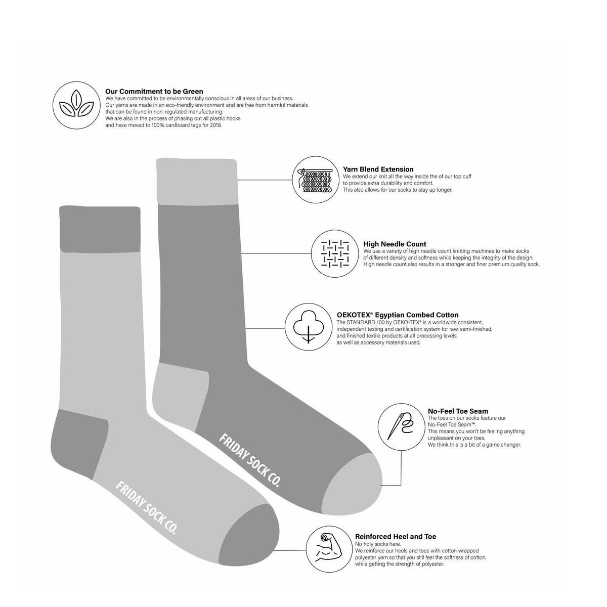 Friday Sock Co. Friday Sock Co. Red Plaid Socks