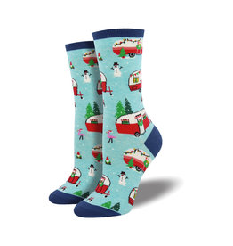 Socksmith Women's Cotton Blend Socks Christmas Campers