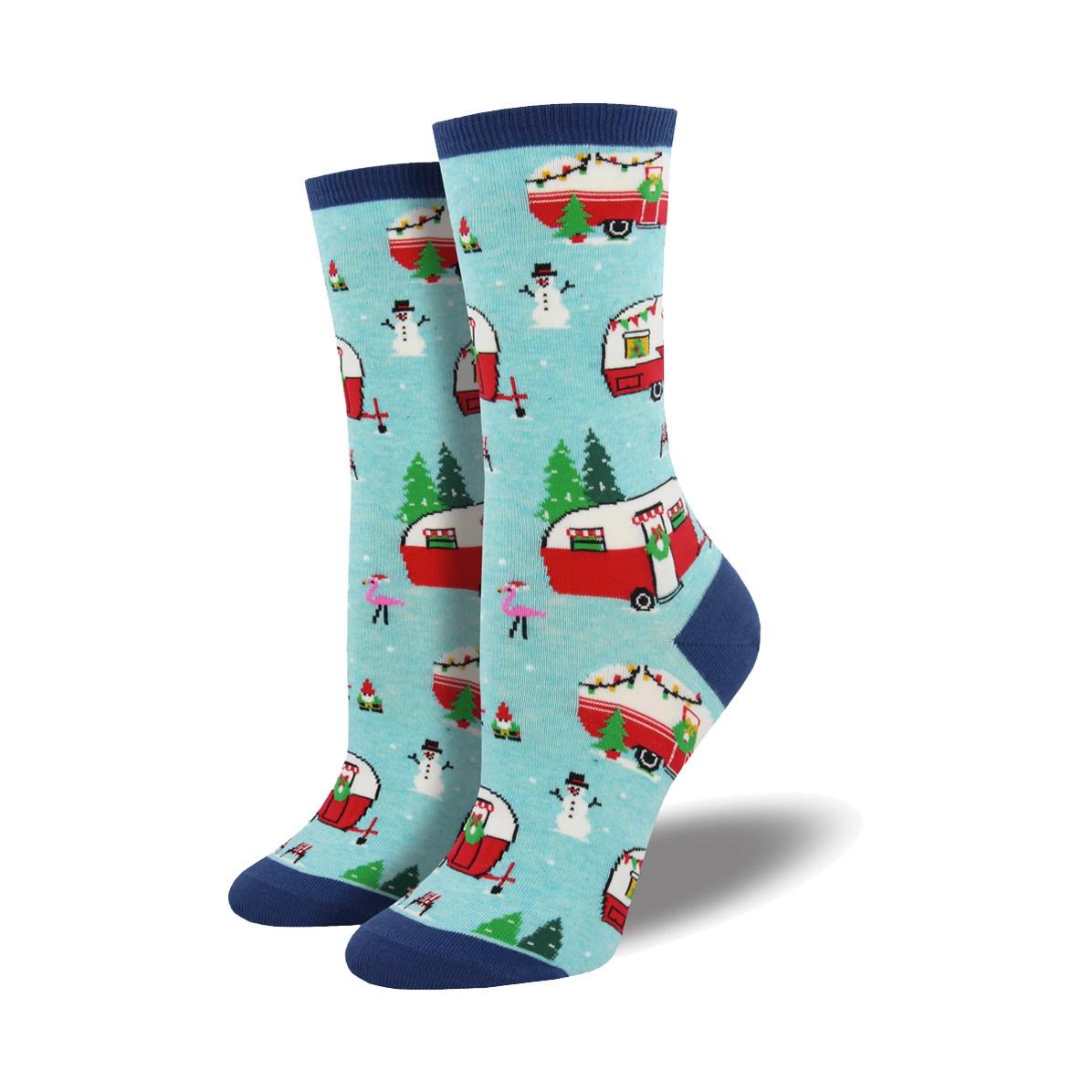 Socksmith Socksmith Women's Cotton Blend Socks Christmas Campers