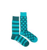 Friday Sock Co. Friday Sock Co. Men's Green Stripe & Dot M 7 - 12 (W 8 - 13)
