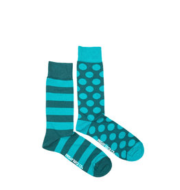 Friday Sock Co. Men's Green Stripe & Dot M 7 - 12 (W 8 - 13)