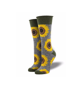 Socksmith Outlands Crew Sincerely Sunflowers
