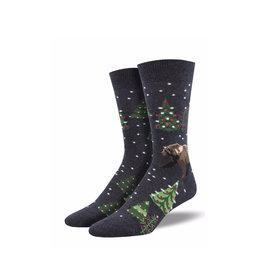 Socksmith Men's Cotton Beary Christmas