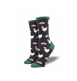 Socksmith Women's Cotton Clucking Christmas