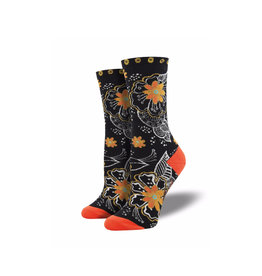 Socksmith Women's Black & White Floral