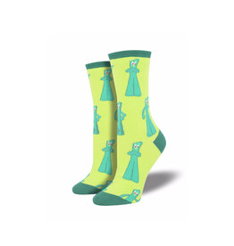 Socksmith Women's Cotton Gumby Greetings Green