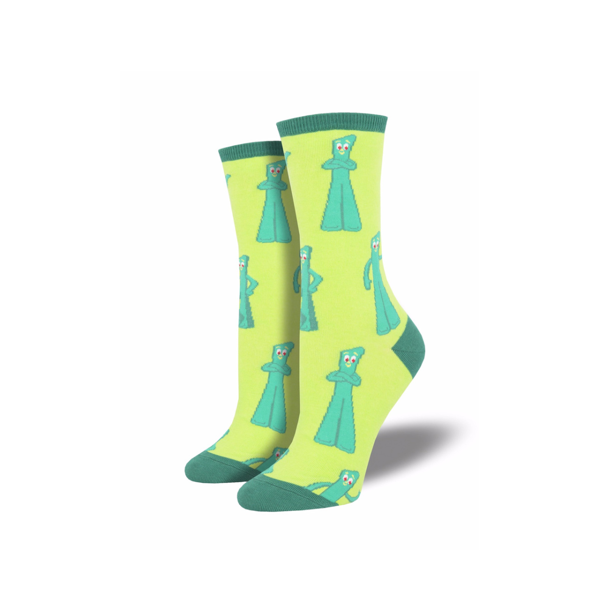 Socksmith Socksmith Women's Cotton Gumby Greetings Green