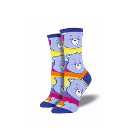 Socksmith Women's Cotton Blend Grumpy Bear