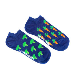 Friday Sock Co. Women's Broccoli & Carrot Ankle W 5 - 10 (M - 4 - 8)