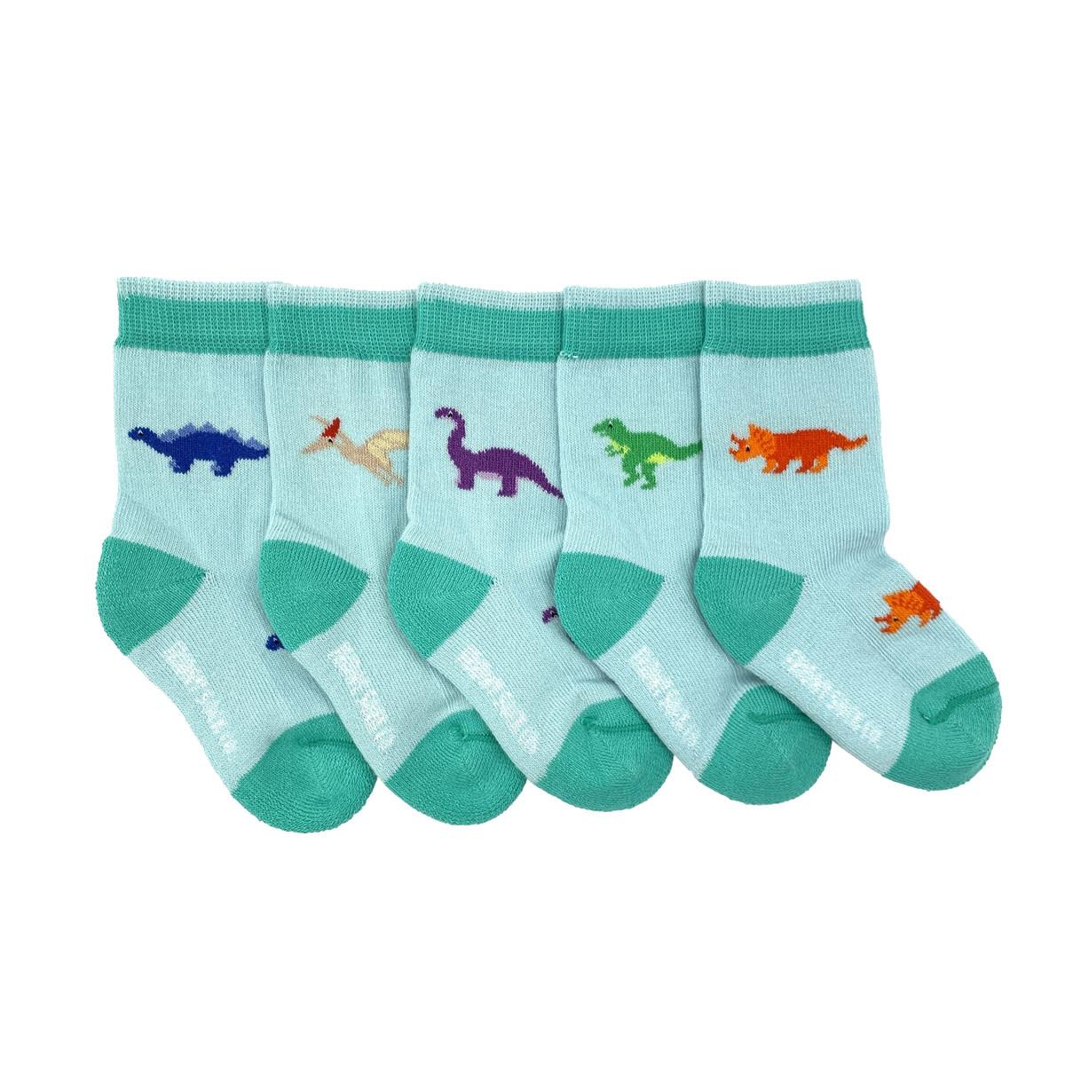 Friday Sock Co. Friday Sock Co. Baby Dinosaur 5 Pk