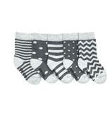 Friday Sock Co. Friday Sock Co. Baby Stripes & Dots 5 Pk