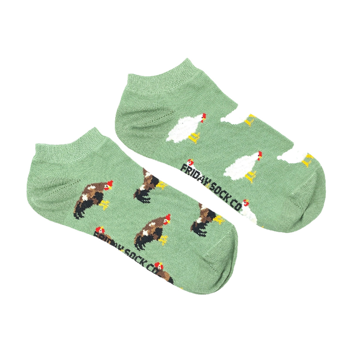 Friday Sock Co. Friday Sock Co. Women's Chicken & Rooster Ankle W 5 - 10 (M - 4 - 8)
