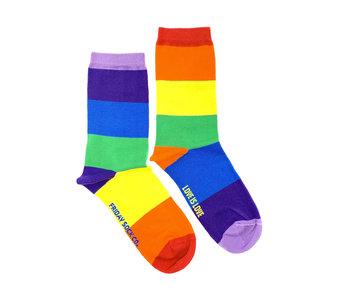 Friday Sock Co. Women's Love is Love Crew W 5 - 10 (M - 4 - 8)