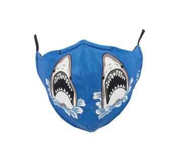 Socksmith Mask Shark Attack Blue