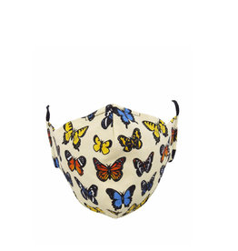 Socksmith Mask Majestic Butterflies-Ivory