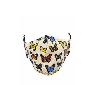 Socksmith Mask Majestic Butterflies-Ivory