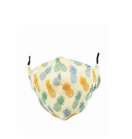 Socksmith Mask Pineapple Print-Ivory