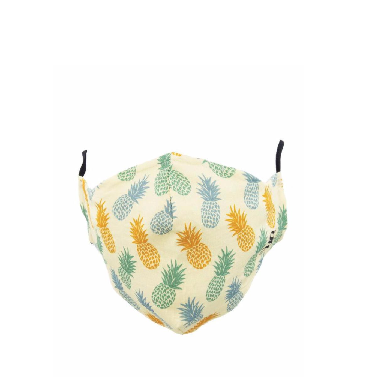 Socksmith Socksmith Mask Pineapple Print-Ivory