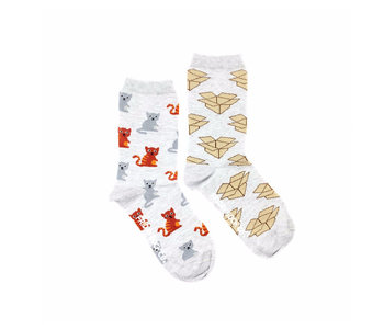 Friday Sock Co. Women's Cat & Box W 5 - 10 (M - 4 - 8)