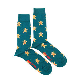 Friday Sock Co. Men's Ugly Christmas Gingerbread Cookie M 7 - 12 (W 8- 13)