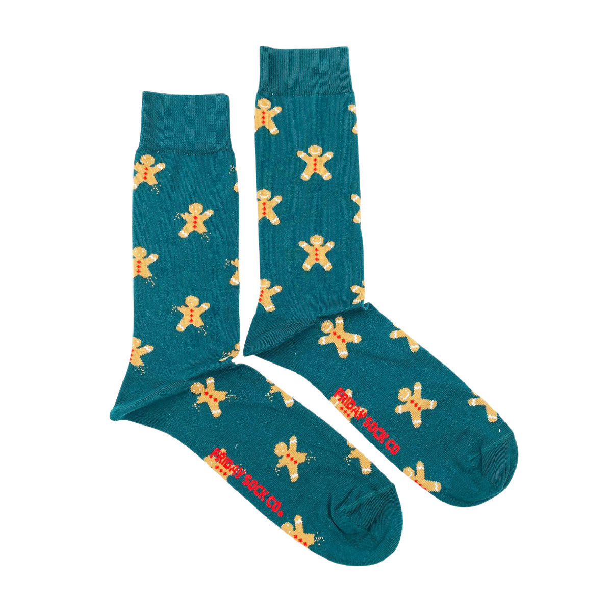 Friday Sock Co. Friday Sock Co. Men's Ugly Christmas Gingerbread Cookie M 7 - 12 (W 8- 13)