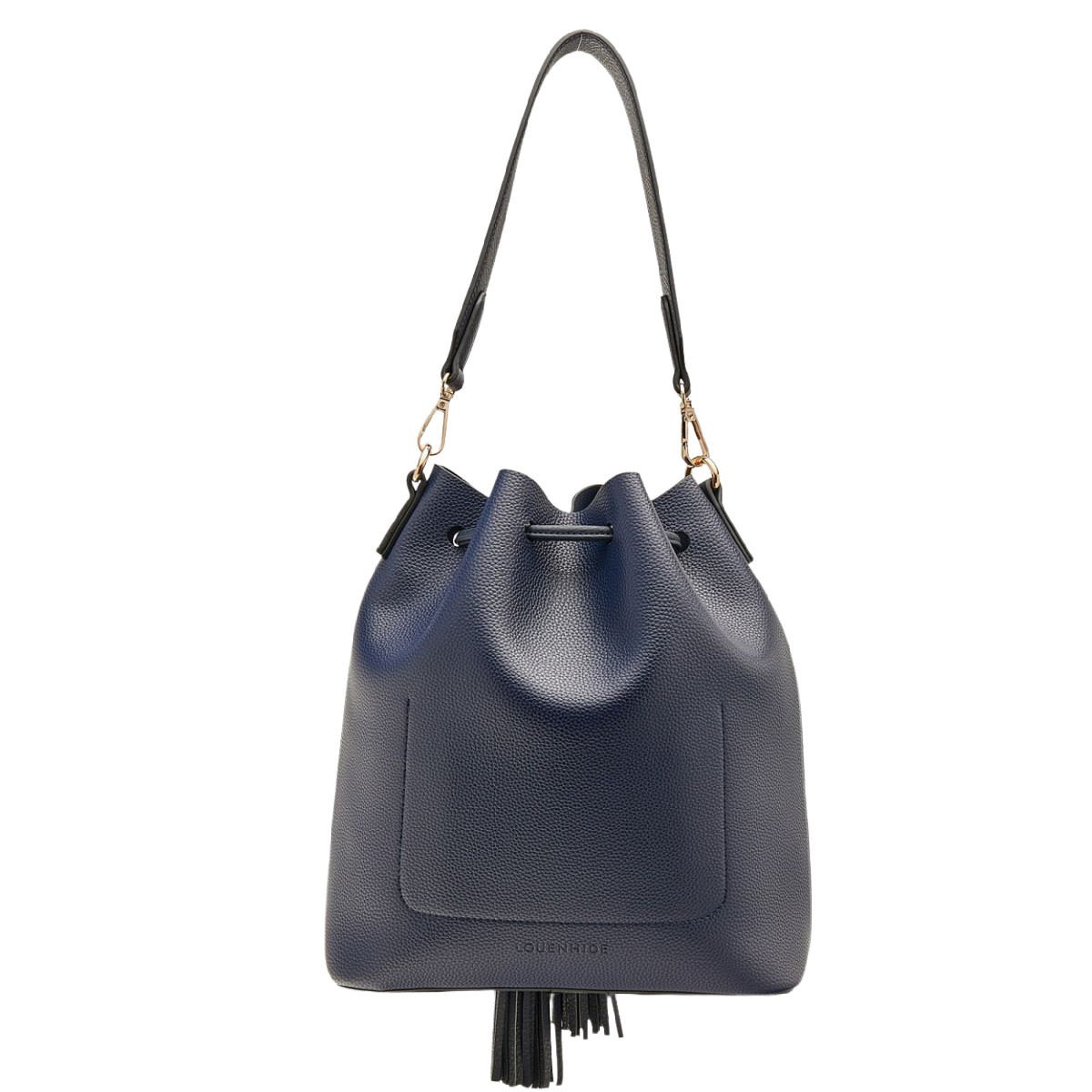 Lounenhide Apollo Bucket Bag Navy