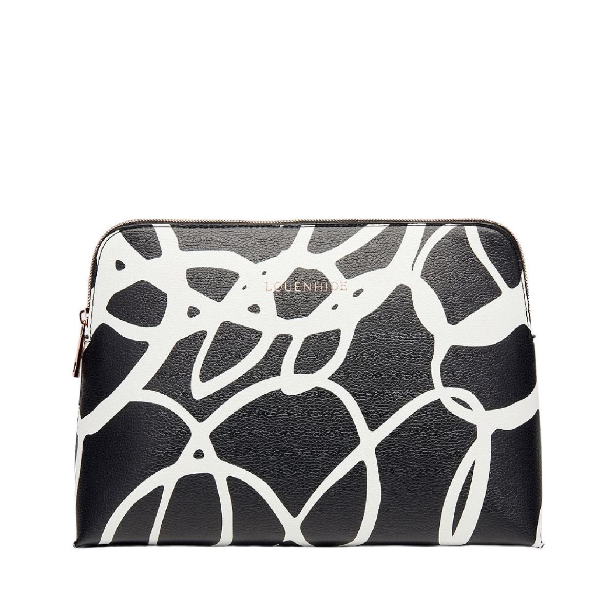 Lounenhide Bardot Cosmetic Bag Black Swirl