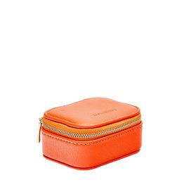 Lounenhide Suzie Jewellery Travel Case Tangerine