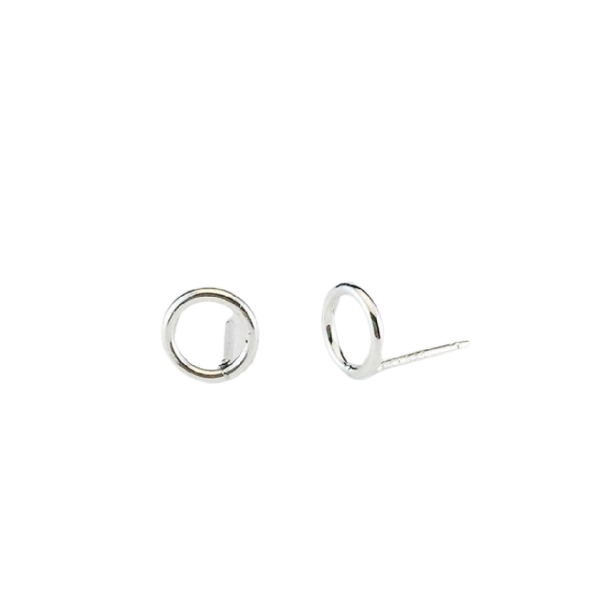 Laughing Sparrow Tiny Silver Circle Studs