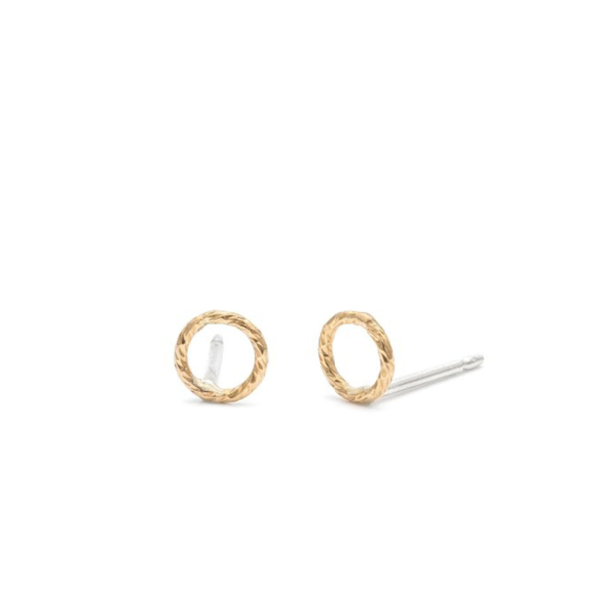 Laughing Sparrow Tiny Gold Filled Circle Studs