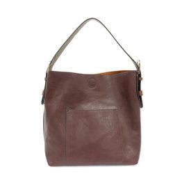 Joy Susan Classic Hobo Handbag Wine