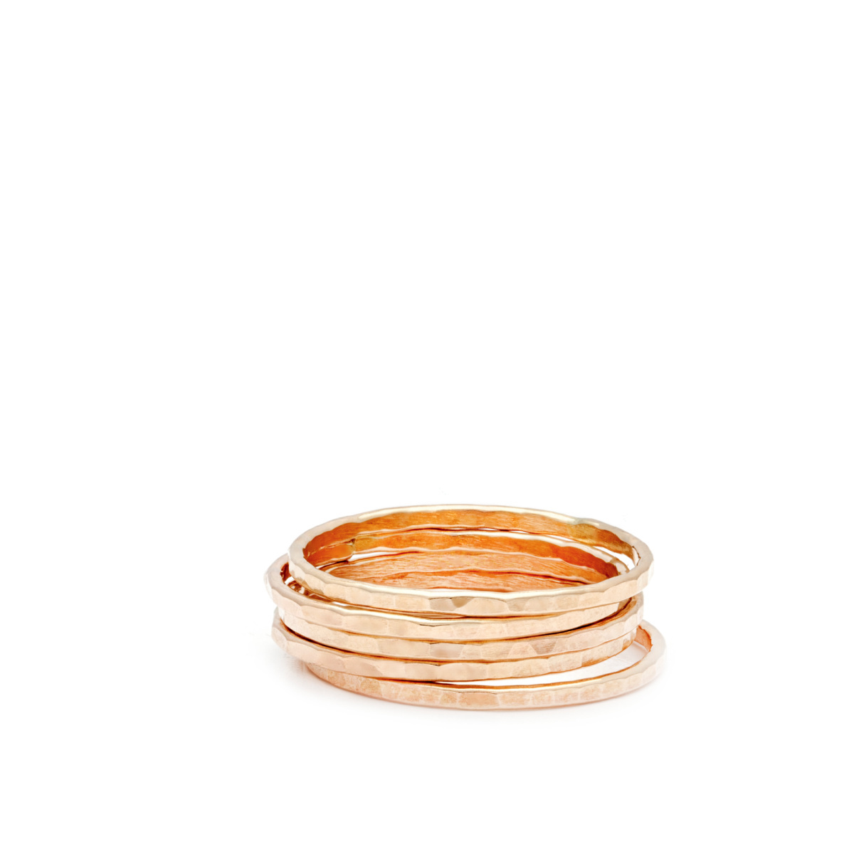 Laughing Sparrow Stacking Hammered Ring