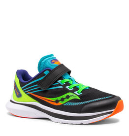 Saucony Youth Kinvaro 12 Velcro Blk/Green