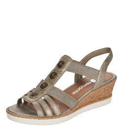 Remonte R6256-90 Wedge Sandal Gold