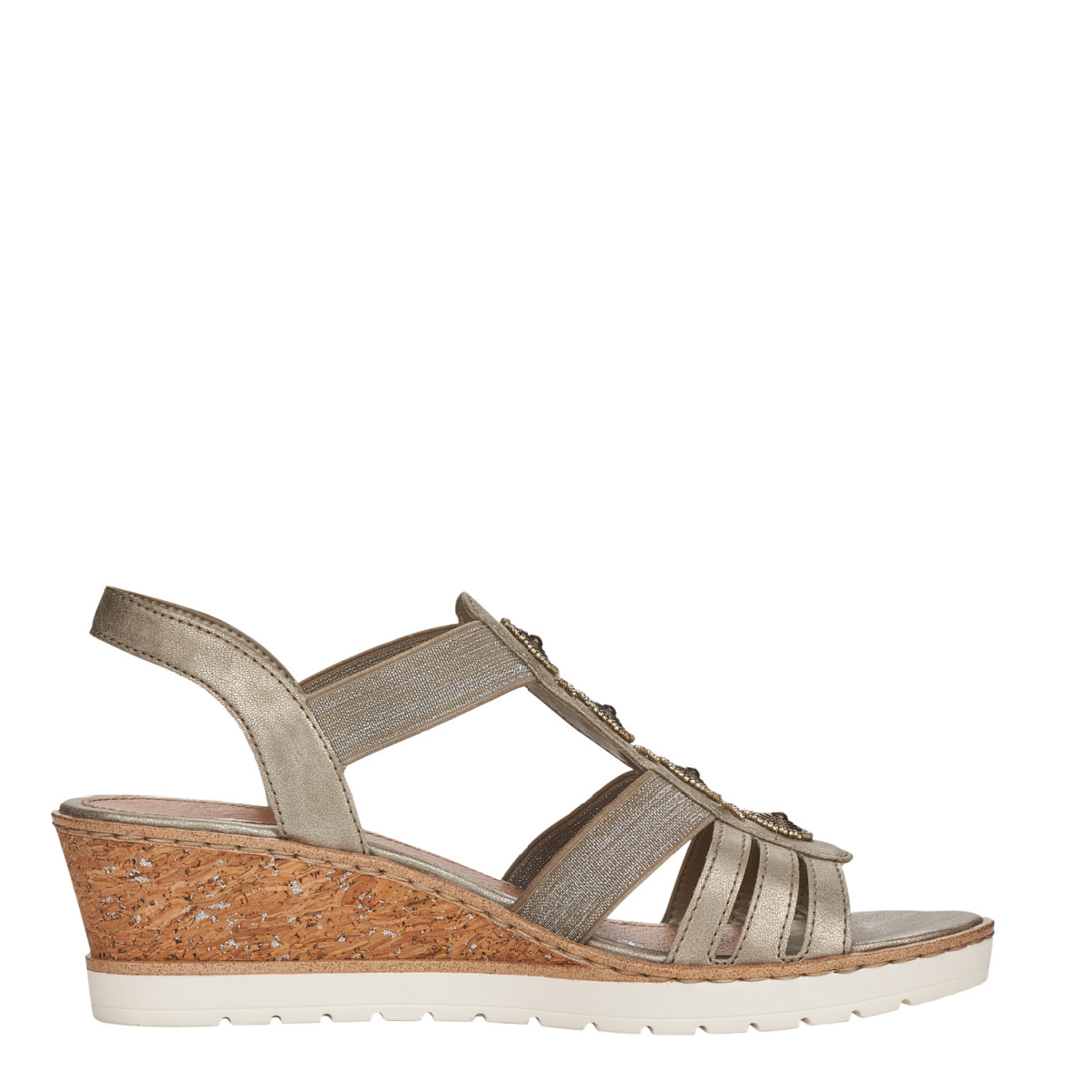 Remonte Remonte R6256-90 Wedge Sandal Gold