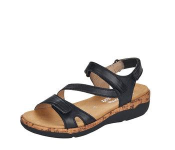 Remonte R6850-01 Sandal Black
