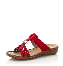 Rieker 608A7-33 Sandal Red