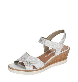 Remonte R6252-80 Wedge Sandal White