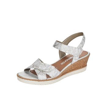 Remonte R6252-80 Wedge Sandal White