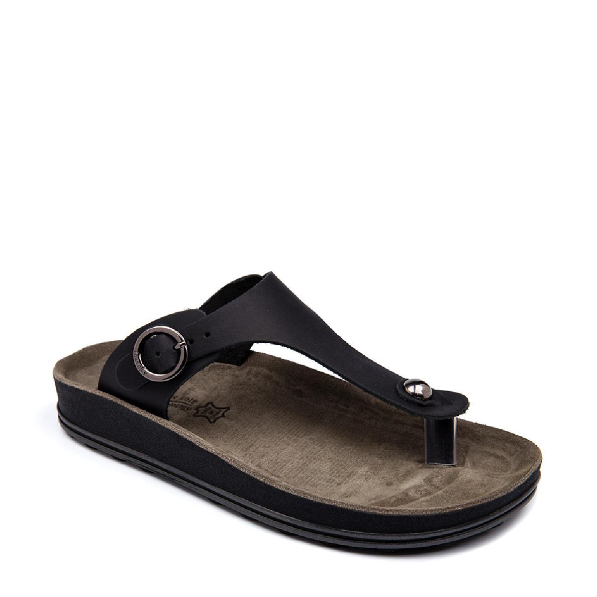 Fantasy Sandals Arianna Black Brush