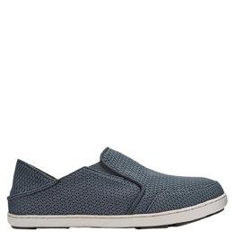 OluKai Nohea Moku Mesh Boat Shoe Grey / Wind Grey