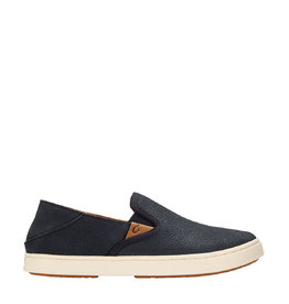 OluKai Pehuea Leather Slip-On Lava Rock / Lava Rock