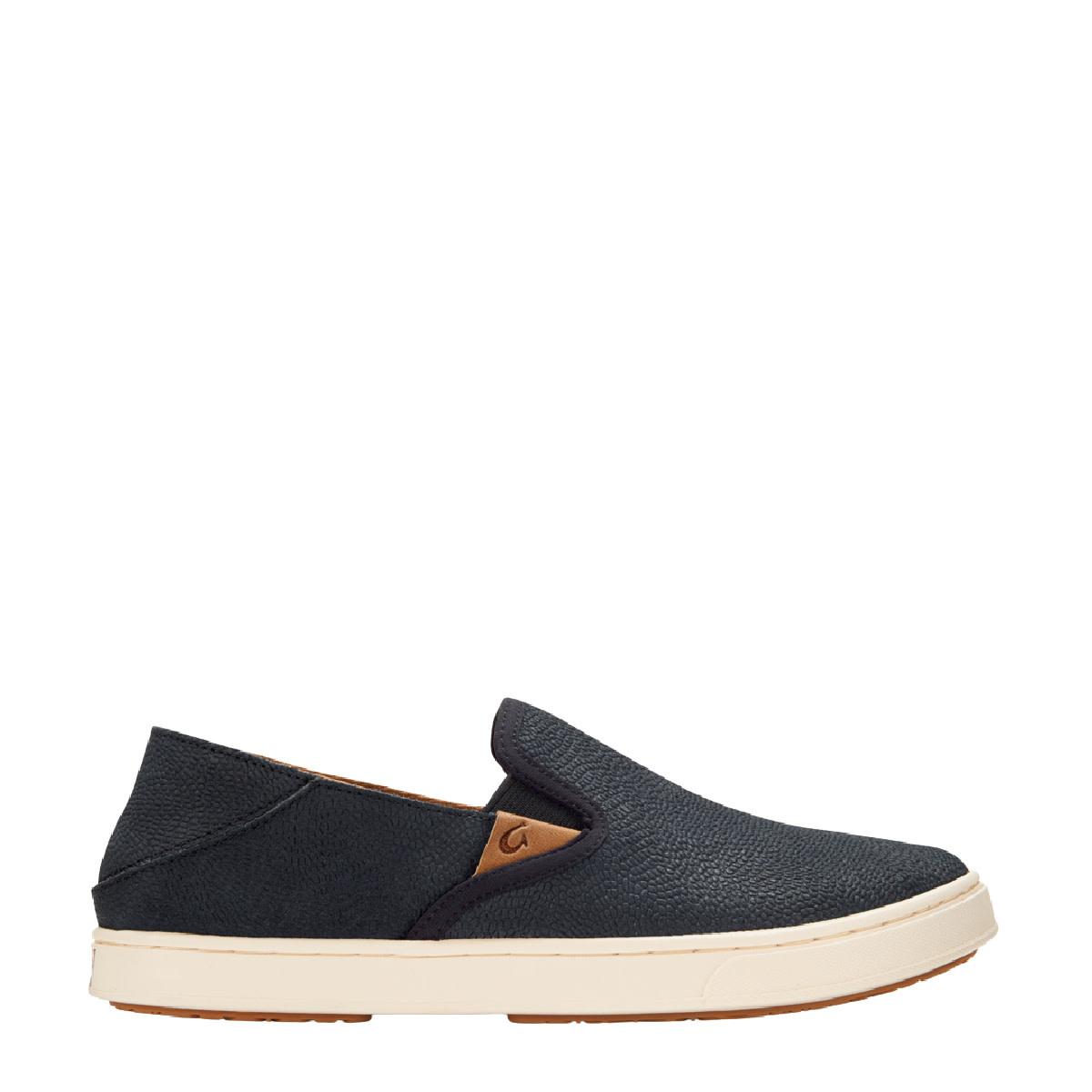 OluKai OluKai Pehuea Leather Slip-On Lava Rock / Lava Rock