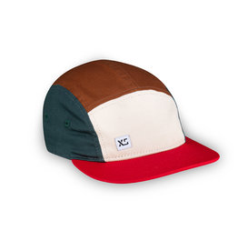 XS Unified Kid's 5 Panel Hat Earth Colourblock