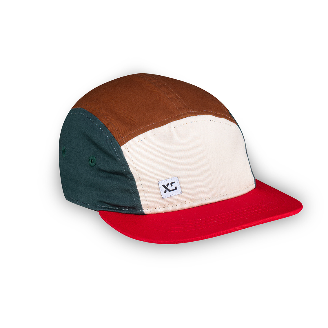 XS Unified XS Unified Kid's 5 Panel Hat Earth Colourblock