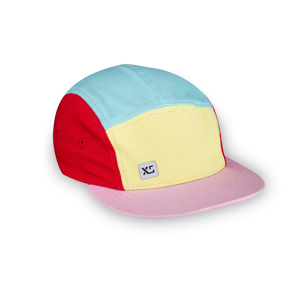XS Unified XS Unified Kid's 5 Panel Hat Pastel Colourblock