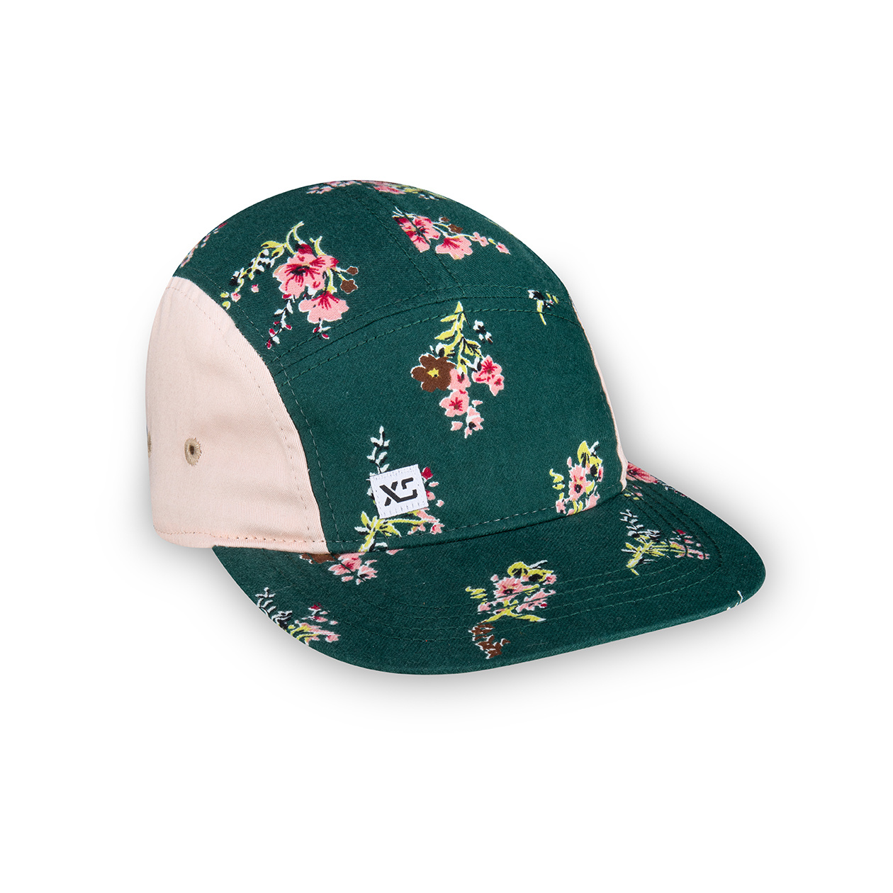 XS Unified XS Unified Kid's 5 Panel Hat Green Floral